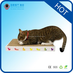 Cheap Corrugated Cardboard Cat Scratcher with sleeping cat toys