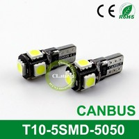 OEM factory led chip smd 5050smd T10-5smd t10 led canbus 5050 canbus t10 interior lights lamp