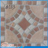 Non Slip Pattern Design Ceramic Floor Tile 400x400mm For Bathroom