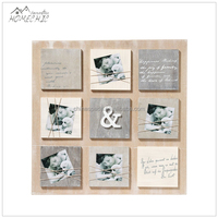 Wholesale cheap wholesale wooden frameless picture frame with rope
