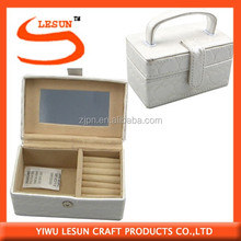 Hot sale PU leather jewelry box/cosmetic case