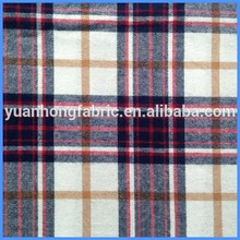 Fashion Garment Twill Woven 100% Cotton Yarn Dyed Flannel Fabric