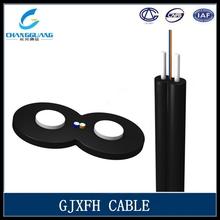 2 core SM/MM FRP/steel strength member ftth drop fiber optic cable meter price