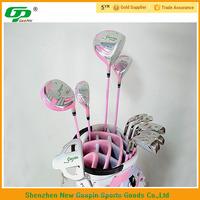 Pink titanium alloy rubber grip golf club