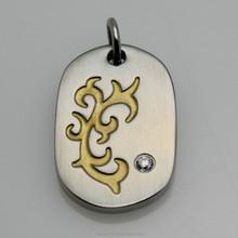 2015 popular satin one stone stainless steel CheungHo egg pendant
