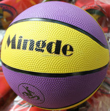 Super quality hot sell official yellow rubber basketball 2015