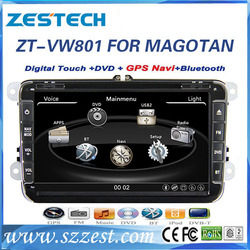 ZESTECH 8inch HD touch screen car dvd player for VW Golf 6 car gps Navi with radio BT USB DVD SWC