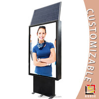 outdoor advertising material picture frame manufacturer electric scrolling display stand solar power light box