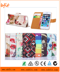 Printed Magnetic Wallet PU Leather Card Flip Stand Fashion Lovely Case Cover For iphone