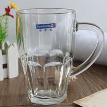 Promotion Mug Cup With Logo Print Glass Beer Mugs Drinking Glass Cup With Handles