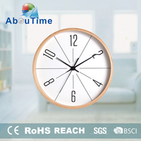 acrylic glass wood stand clock wholesale for office room