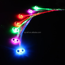 led fiber optic braid barrette Hair clip Party Novelty Gear Flash Up Hair Fiber SJ-LHB012
