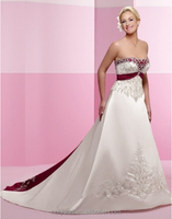 satin scoop neck sleeveless elegant long train fat size wedding dress