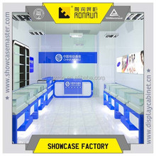 Mobile phone shop interior decoration display showcase for cell mobile phone accessory