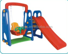 2015 new style plastic swing and slide for children