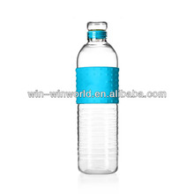 Wholesale Drinking Blue Colored Glass Water Bottles