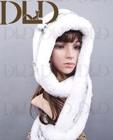 Ladies Fashion Rex Rabbit Fur Hat Knitting Pattern
