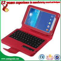 Portable Bluetooth Keyboard for Samsung Galaxy Tab 3 Lite T110 with Leather Case
