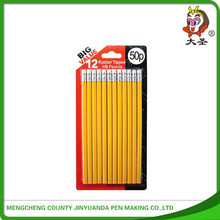 plastic bag holder wooden hb pencil with cartoon eraser