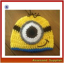 Newborn Baby Minion Cap. Bright Yellow. Newly Crocheted.