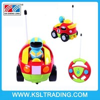 Cartoon Car R/C Race Car Radio Control Toy for Toddlers