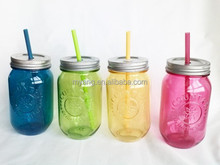 LOW MOQ!BPA FREE water bottle with straw FDA material plastic water bottle,plastic mason jars 8oz,160z,20oz , drink wate