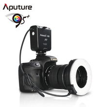 Aputure CRI95 Macro 100 Pieces LED Ring Flash Light for Canon Nikon Pentax Olympus Panasonic DSLR