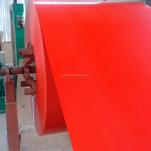 PE paint , red color coated aluminum coil for roof sheet