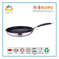 elegant design diamond frying pan korea stainless steel grill frying pan/ceramic stainless steel fry pan