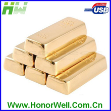 no logo gold bar usb stick customized l usb pull-push style