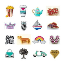 Hot sell origami owl floating charms wholesale