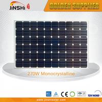 IP65 CE TUV certificated 270w mono solar panel