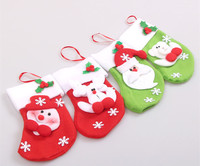 winter sock cotton knitted christmas sock 3d cartoon