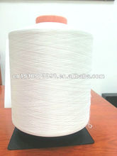 cone dyed dty polyester yarns raw white