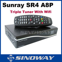 A8P sim card Sunray 4 hd se wifi DVB-S/T2/C triple tuner SR4 HD se digi satellite receiver super tv box