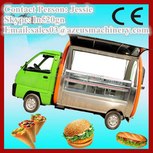 Street gourmet food truck / camp mobile dining car for sale