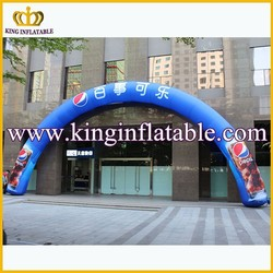 16m Blue Cheap Inflatable Entrance Arches, Advertising Inflatable Arch