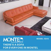 Modern lobby l shape sofa set design