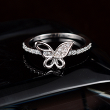 Korea Style Pearl Diamond The Butterfly Fashion Female Gold Ring