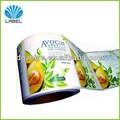 Privado competitivo cosméticos adhesivo de la etiqueta de diseño, perfume de alta clase de impresión de la etiqueta