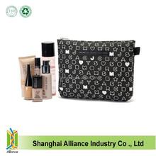 Fashion cotton women makeup pouch beauty zipper cosmetic purse toiletry zipper purse