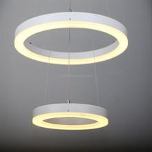 Large acrylic hanging light round led pendant lamp
