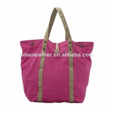 2014 latest washing canvas tote bags with cotton webbing beach canvas bag