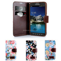 Nice Flower PU Leather Wallet Case for Samsung S4 Active i9295 with TPU cover