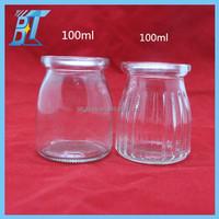 100ml 150ml 200ml glass jelly jar plastic sealing lid