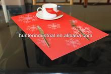 Eco-Friendly European Christmas Snow dining table mats