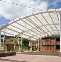 Greenhouse Polycarbonate Hollow sheet 10 years warranty UV coating