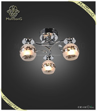 2015 trade assurance suppliers wholesale new products modern 3 lights glass flat ceiling light