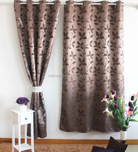 leaf pattern window curtain for christmas made to order curtain