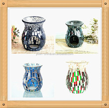 2015 Manufacture supply glass mosaic candle holder,tempered glass mosaic candle warmer and burner